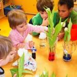 Im Tagesablauf bieten wir den Kindern jede Menge Möglichkeiten zum experimentieren und ausprobieren ...