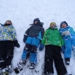 4 Engel im Schnee