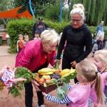 Jede Gruppe bekam einen tollen Obst/Gemüsekorb